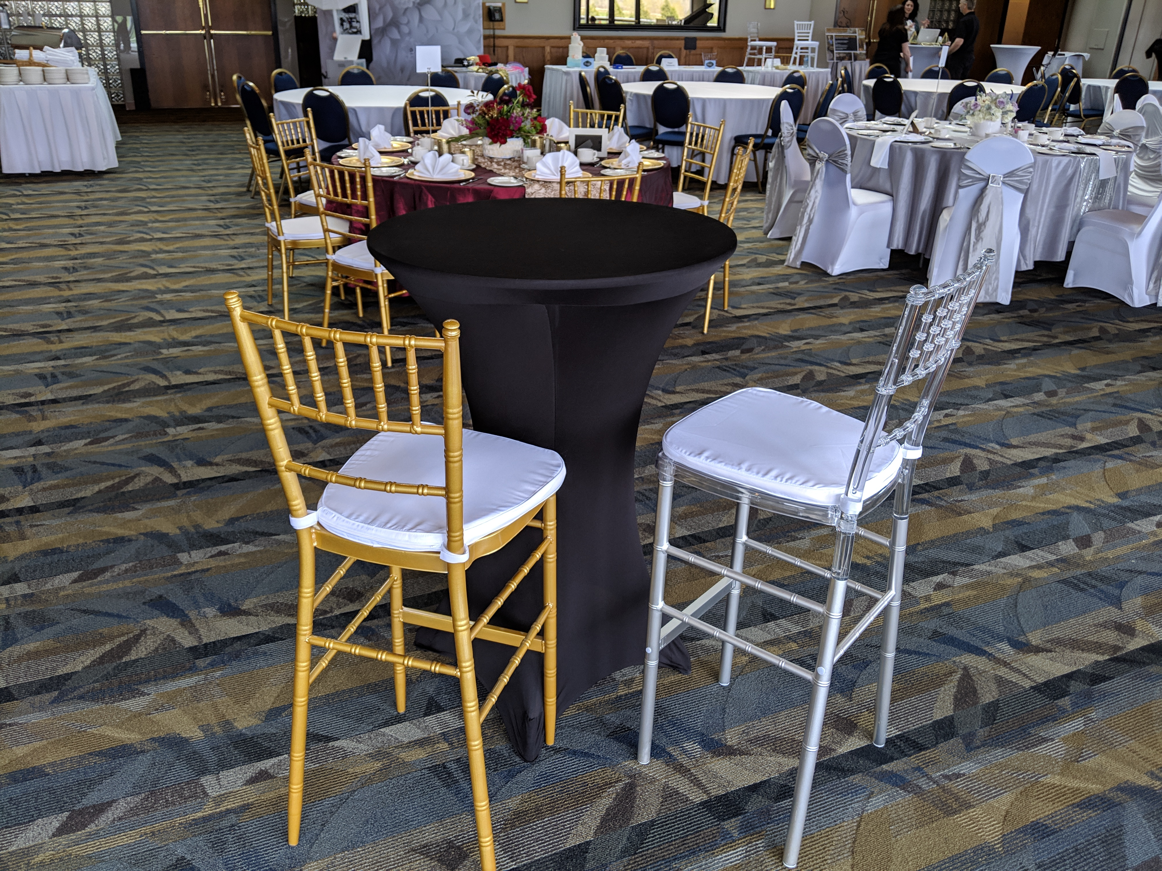 Gold & Clear Chiavari Bar Stools
